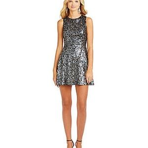 Hailey Logan | Black & Silver Sequined Dress